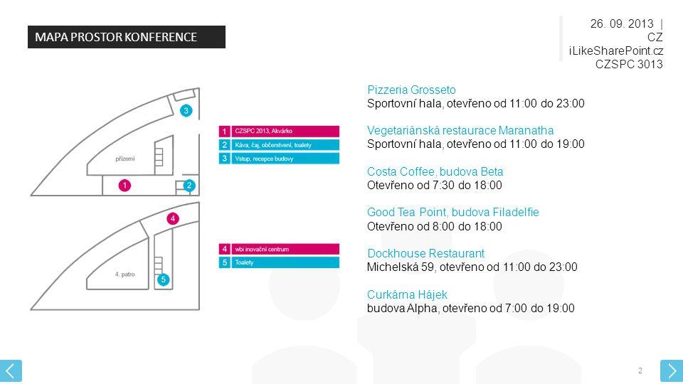 26.09. 2013 | CZ iLikeSharePoint.cz CZSPC 3013 3 KDO JE KDO.