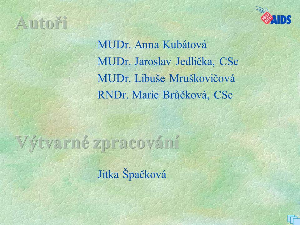 MUDr. Anna Kubátová MUDr. Jaroslav Jedlička, CSc MUDr. Libuše Mruškovičová RNDr. Marie Brůčková, CSc Jitka Špačková