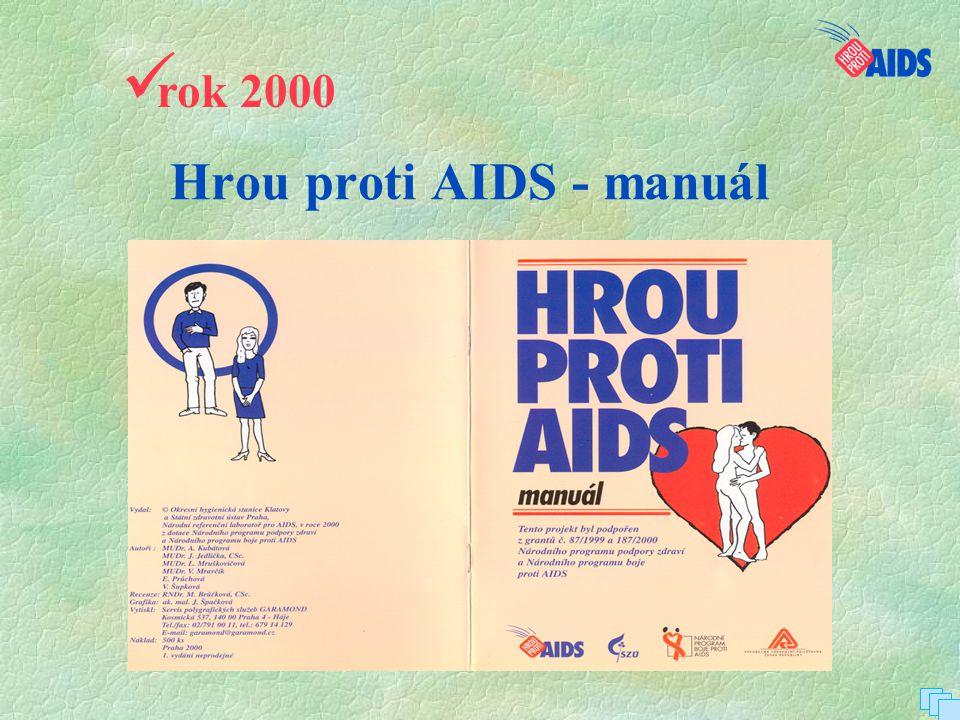 Hrou proti AIDS – 3 paré projektu  rok 2001  rok 2002 Hrou proti AIDS – 5 paré projektu  rok 2003, 2004 Hrou proti AIDS – peer program ČR