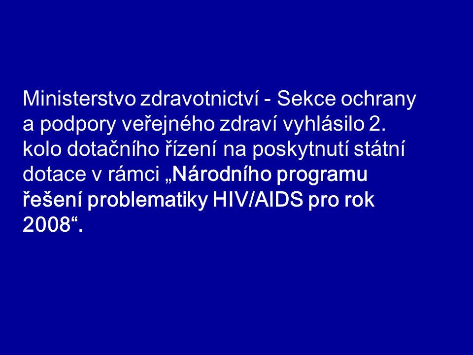 """Ministerstvo zdravotnictví - Sekce ochrany a podpory veřejného zdraví vyhlásilo 2. kolo dotačního řízení na poskytnutí státní dotace v rámci """"Národníh"""