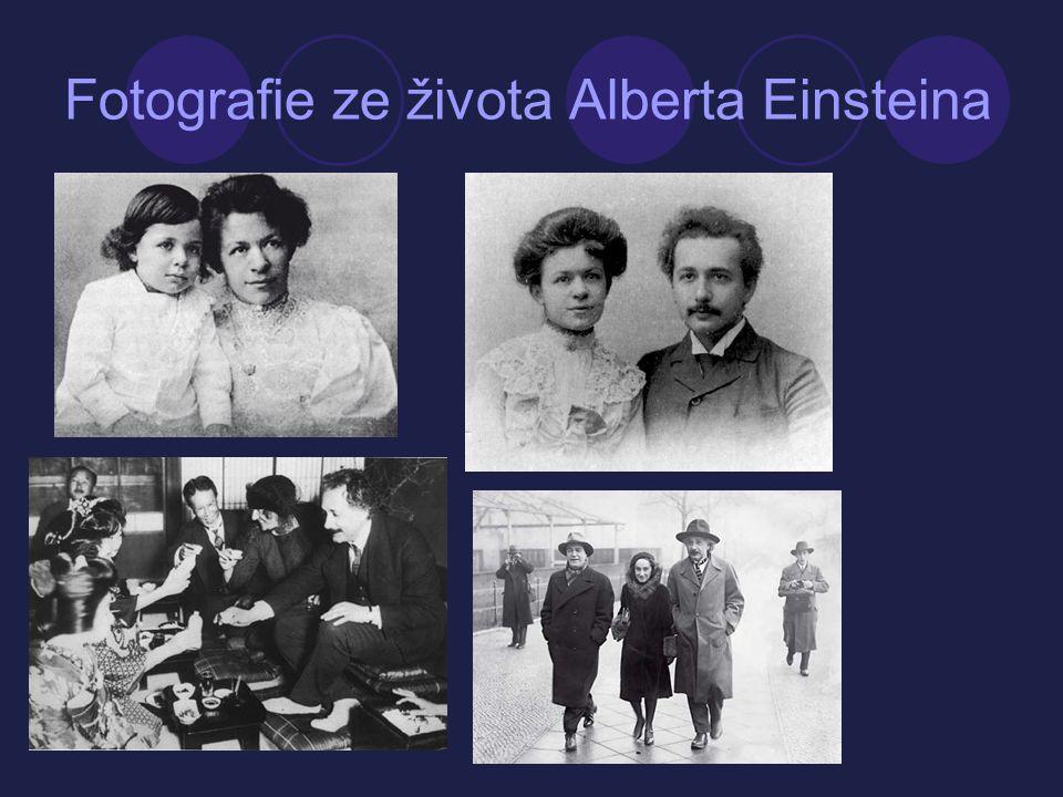 Fotografie ze života Alberta Einsteina
