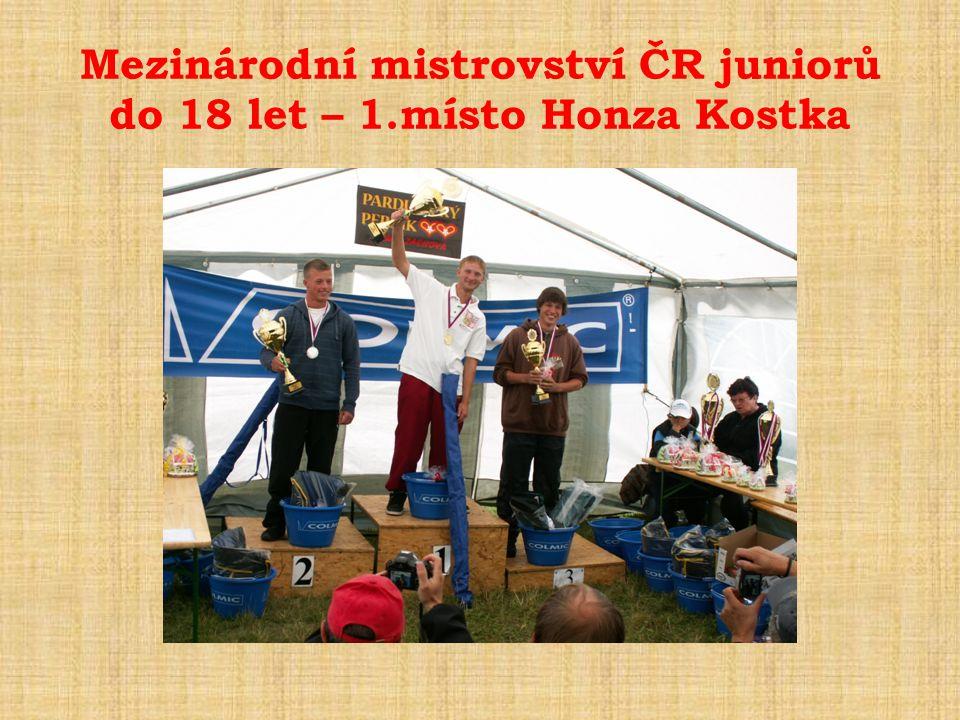 Mezinárodní mistrovství ČR juniorů do 18 let – 1.místo Honza Kostka