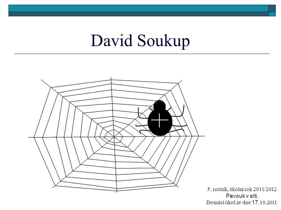David Soukup 5. ročník, školní rok 2011/2012 Pavouk v síti. Domácí úkol ze dne 17.10.2011.