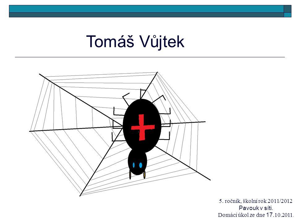 Tomáš Vůjtek 5. ročník, školní rok 2011/2012 Pavouk v síti. Domácí úkol ze dne 17.10.2011.