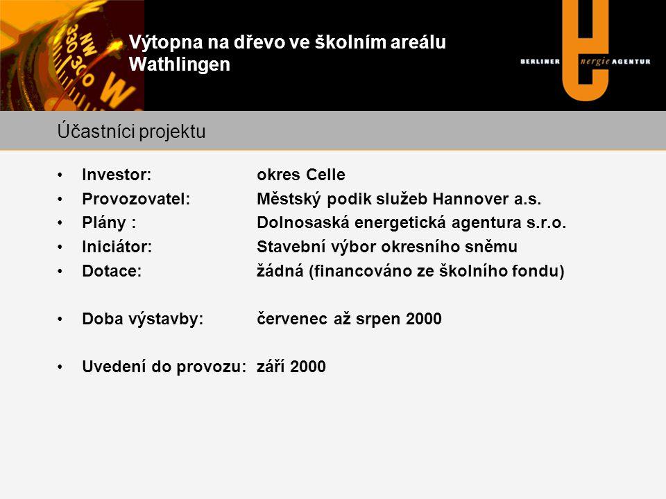Výtopna na dřevo ve školním areálu Wathlingen •Investor:okres Celle •Provozovatel: Městský podik služeb Hannover a.s.