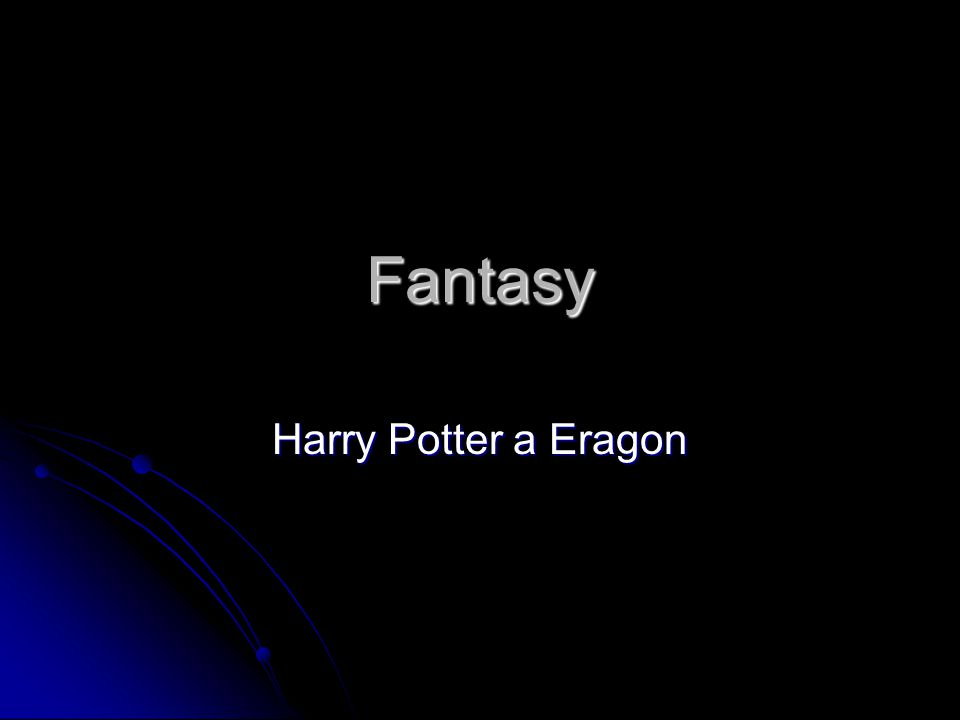 Fantasy Harry Potter a Eragon