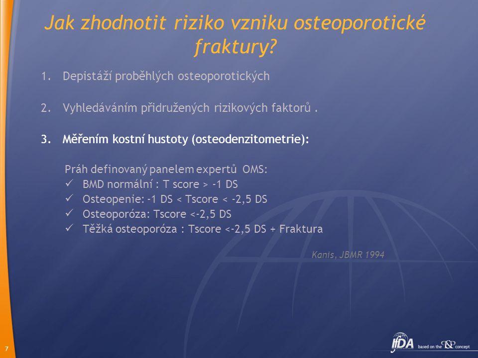 7 Jak zhodnotit riziko vzniku osteoporotické fraktury.