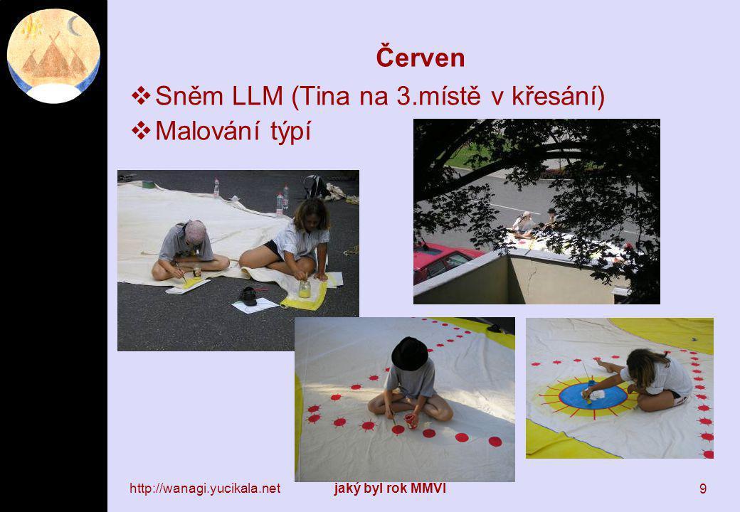 http://wanagi.yucikala.netjaký byl rok MMVI 9 Červen  Sněm LLM (Tina na 3.místě v křesání)  Malování týpí