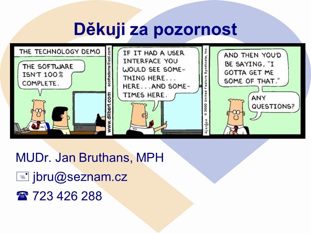 Děkuji za pozornost MUDr. Jan Bruthans, MPH  jbru@seznam.cz  723 426 288