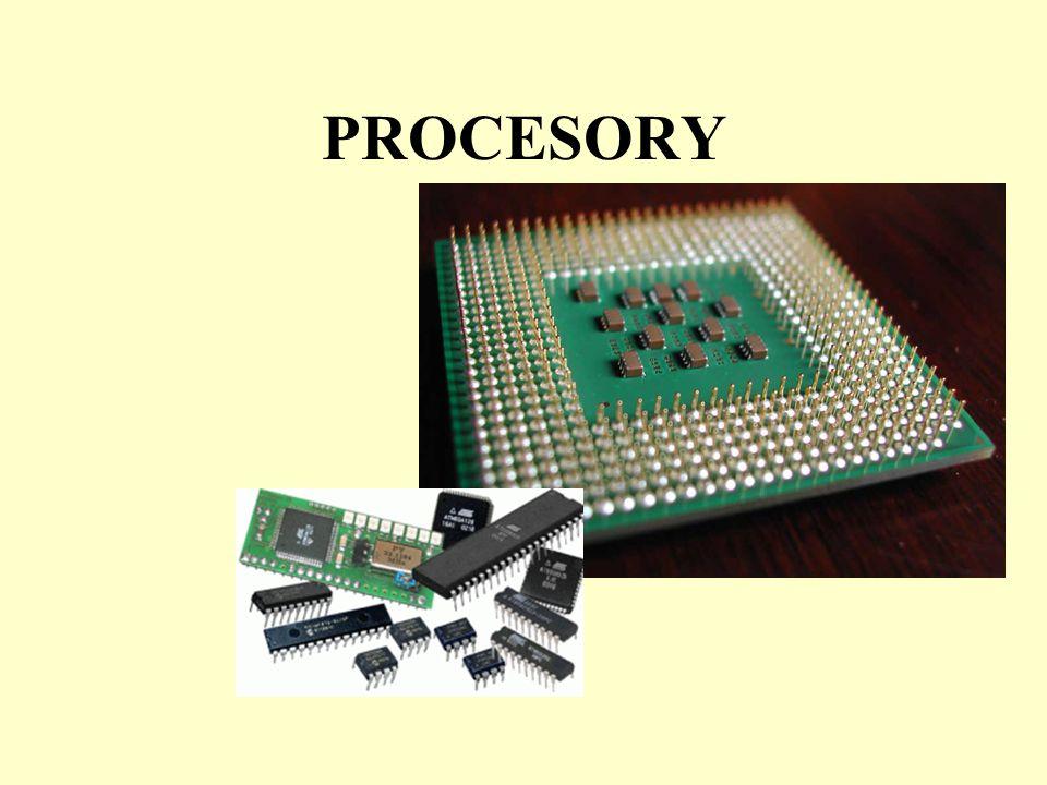 První procesory 8008 Frekvence: 200 KHz Počet bitů: 8 Počet tranzistorů: 3500 Patice: 18 pinů Datum uvedení: v dubnu roku 1972