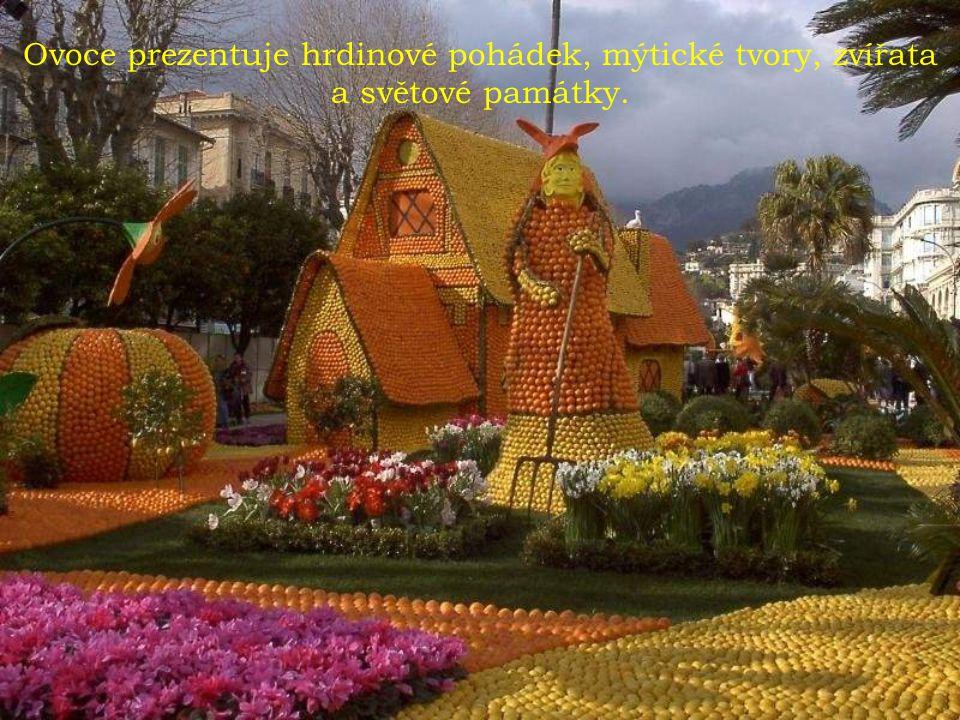 Festival citronů se koná ve městě Menton nedaleko Nice.