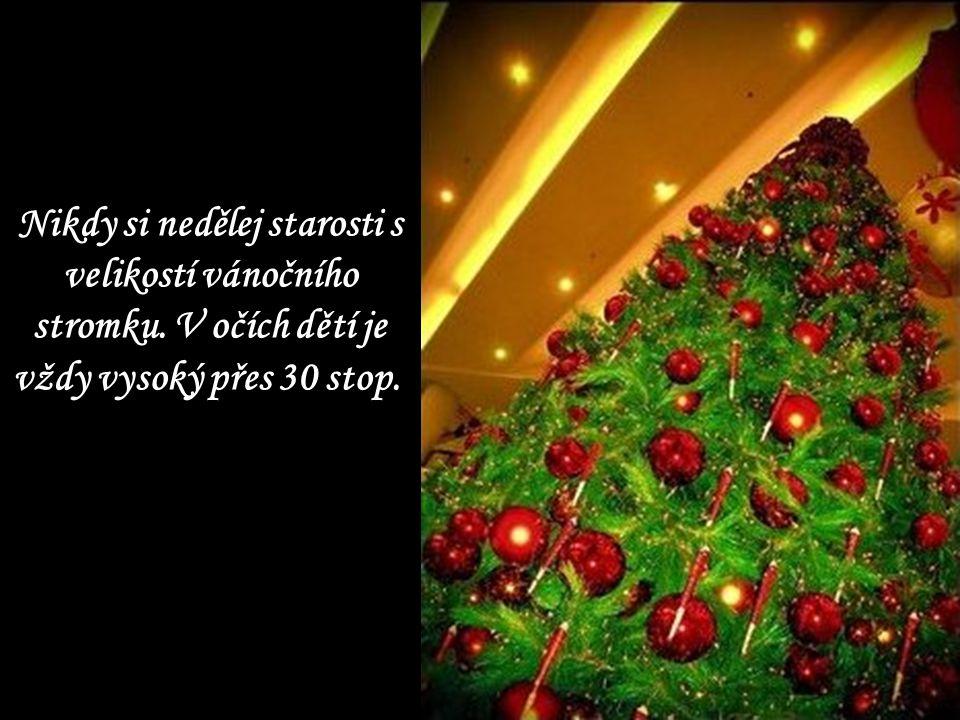 Nikdy si nedělej starosti s velikostí vánočního stromku. V očích dětí je vždy vysoký přes 30 stop.