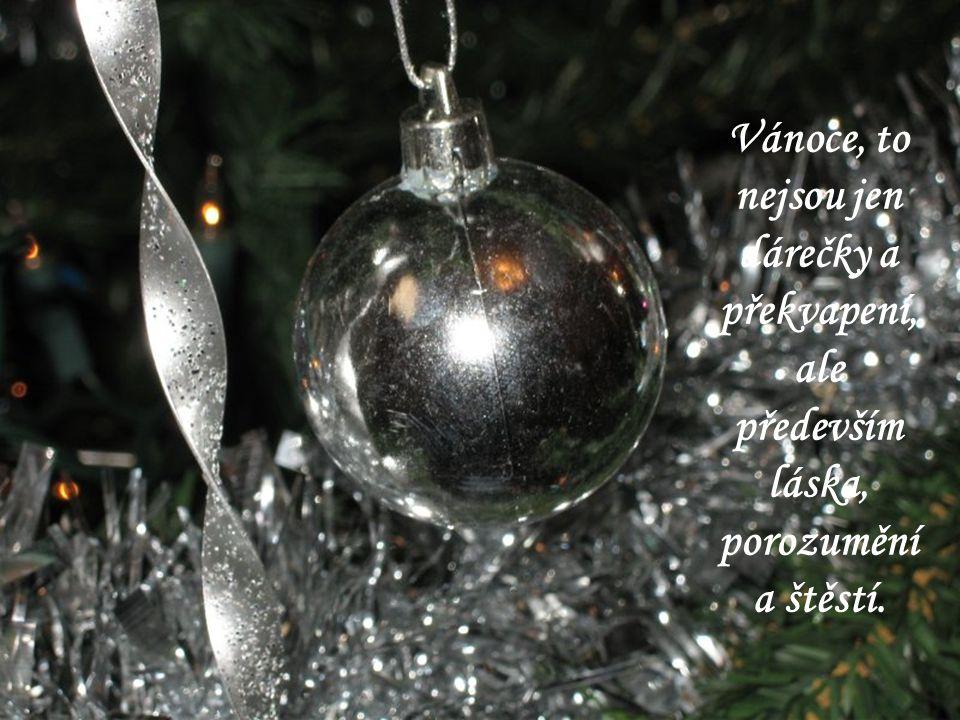 Vánoce, to nejsou jen dárečky a překvapení, ale především láska, porozumění a štěstí.