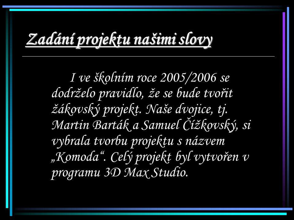 Zadání projektu našimi slovy I ve školním roce 2005/2006 se dodrželo pravidlo, že se bude tvořit žákovský projekt.
