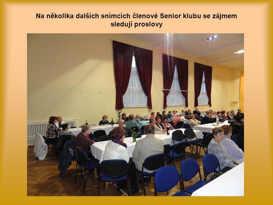 Krátkým proslovem poděkoval za výbornou činnost Senior klubu i starosta naší městské části pan Anastazios Jiaxis