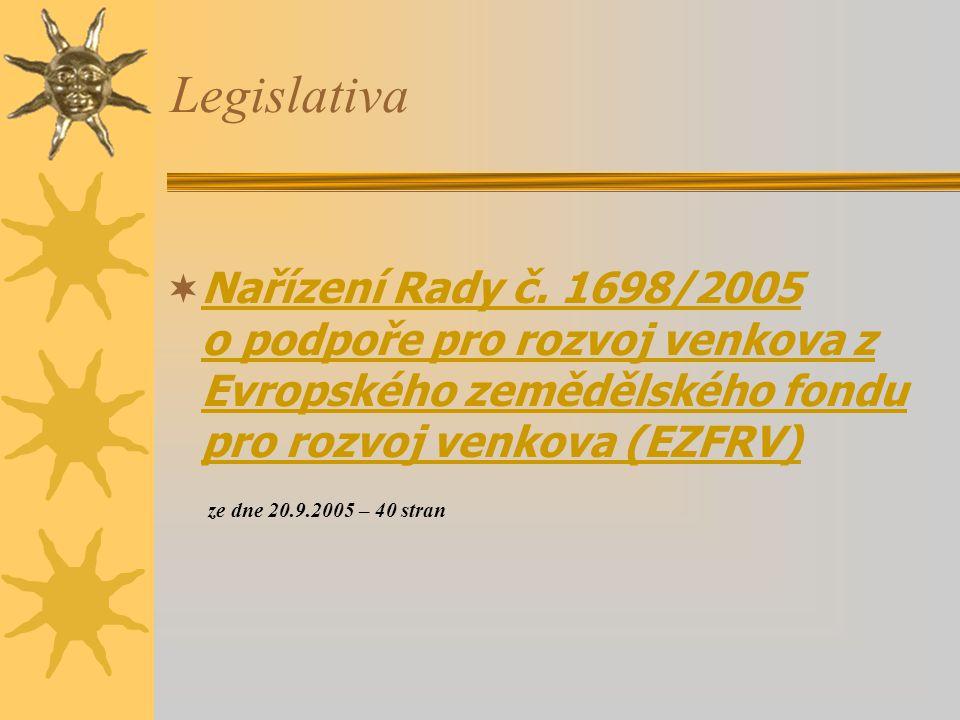 Legislativa  Nařízení Rady č.