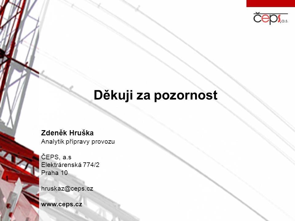 Děkuji za pozornost Zdeněk Hruška Analytik přípravy provozu ČEPS, a.s Elektrárenská 774/2 Praha 10 hruskaz@ceps.cz www.ceps.cz