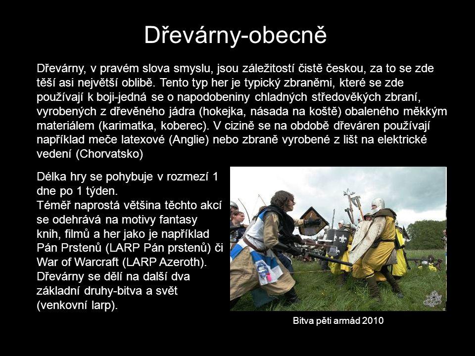 Dřevárny-obecně Dřevárny, v pravém slova smyslu, jsou záležitostí čistě českou, za to se zde těší asi největší oblibě. Tento typ her je typický zbraně