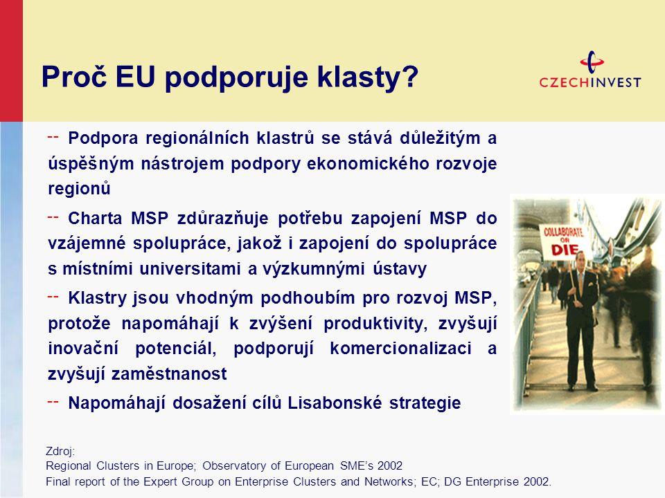 Proč EU podporuje klasty.