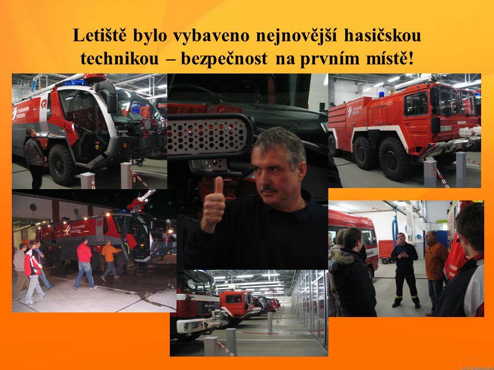 Letiště bylo vybaveno nejnovější hasičskou technikou – bezpečnost na prvním místě!