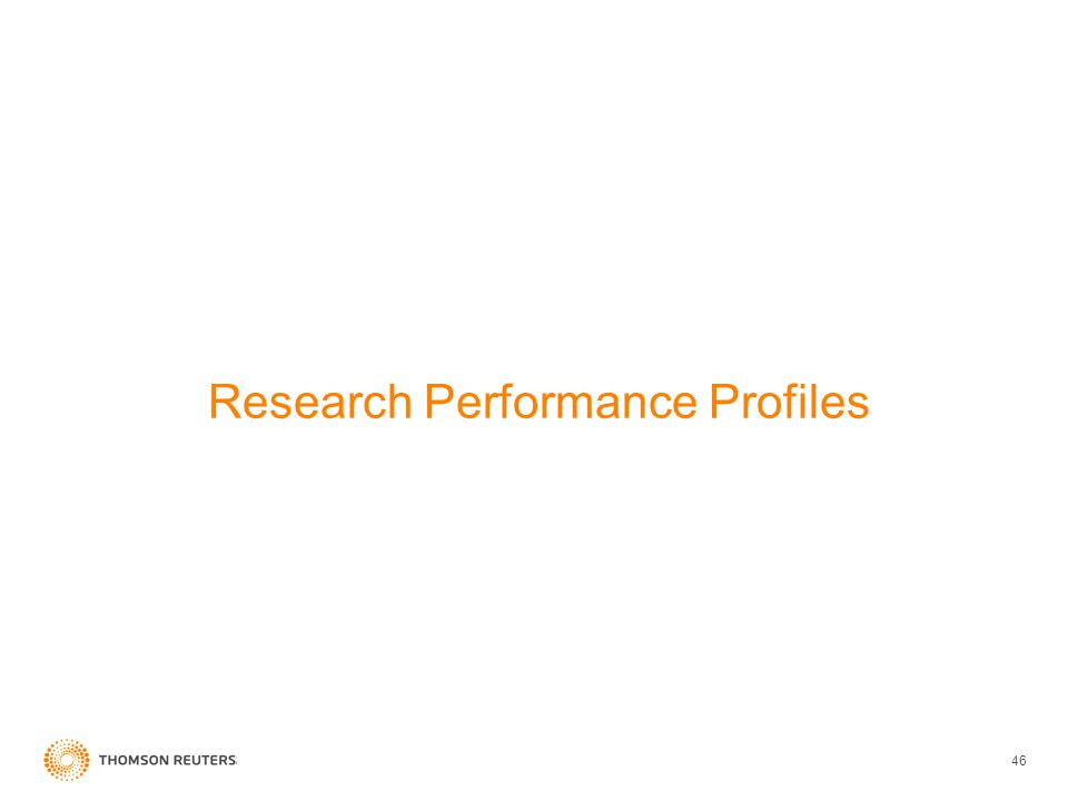 Research Performance Profiles 46