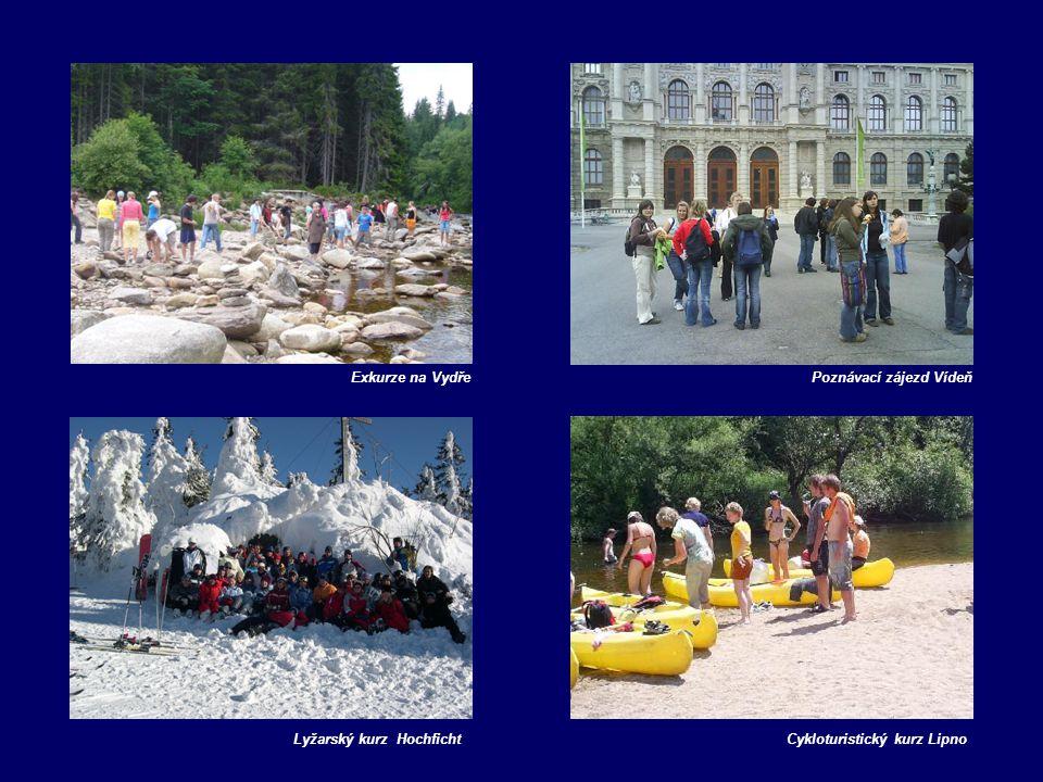 Cykloturistický kurz LipnoLyžarský kurz Hochficht Exkurze na VydřePoznávací zájezd Vídeň
