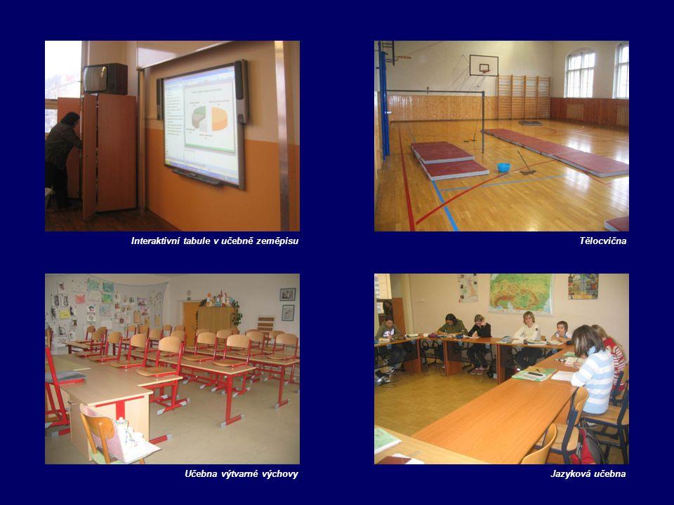Interaktivní tabule v učebně zeměpisuTělocvična Učebna výtvarné výchovyJazyková učebna