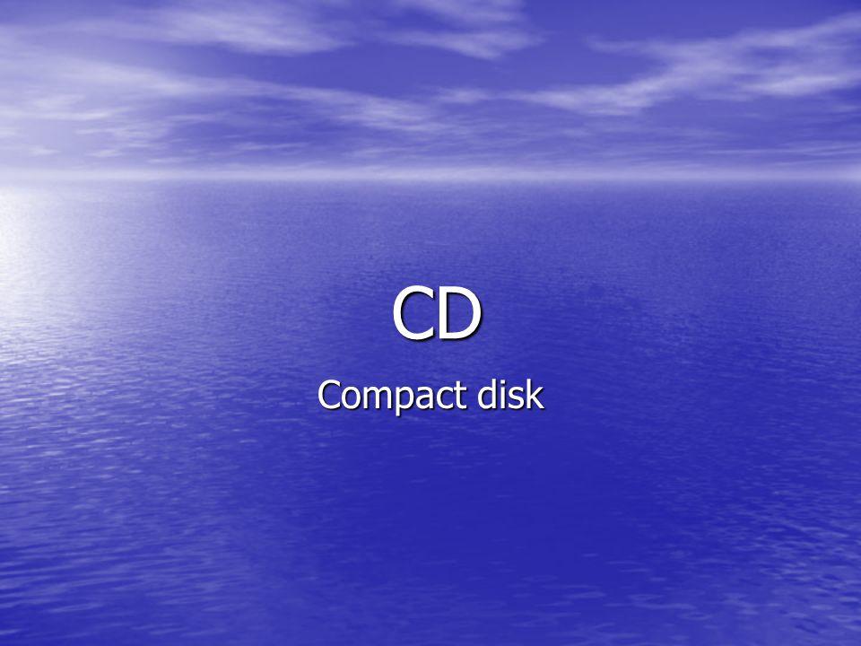 • Kompaktní disk vyvinuly roku 1979 firmy Sony a Philips Na přelomu 80.