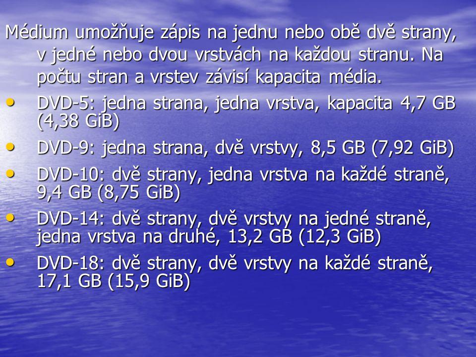 """Uživatel může vytvořit DVD-nosiče těchto typů: • DVD-Video (obsahuje filmy (obraz a zvuk)) • DVD-Audio (obsahuje zvuk v kvalitě CD a lepší) • DVD Data (obsahuje údaje) • Označení """"+ (plus) a """"– (pomlčka) představuje dva různé technické standardy, které jsou do určité míry kompatibilní."""