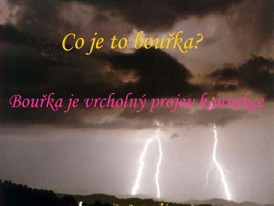 Co je to bouřka? Bouřka je vrcholný projev konvekce