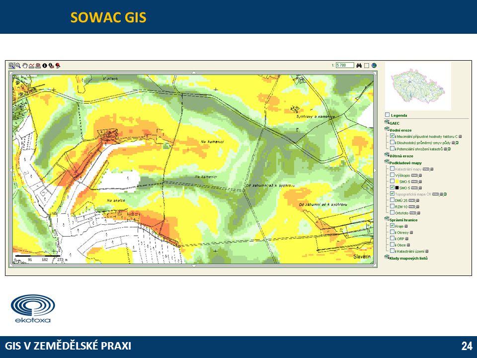 GIS V ZEMĚDĚLSKÉ PRAXI 24 SOWAC GIS
