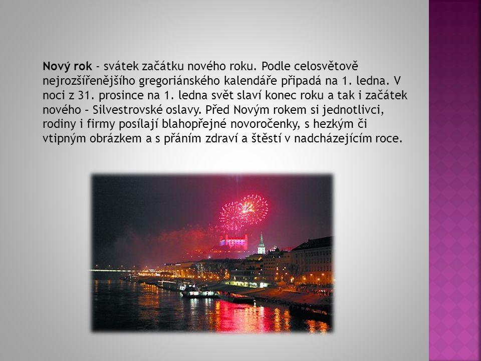 Nový rok je v ČR, ale i v dalších zemích světa státní svátek.
