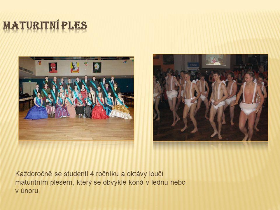 Každoročně se studenti 4.ročníku a oktávy loučí maturitním plesem, který se obvykle koná v lednu nebo v únoru.