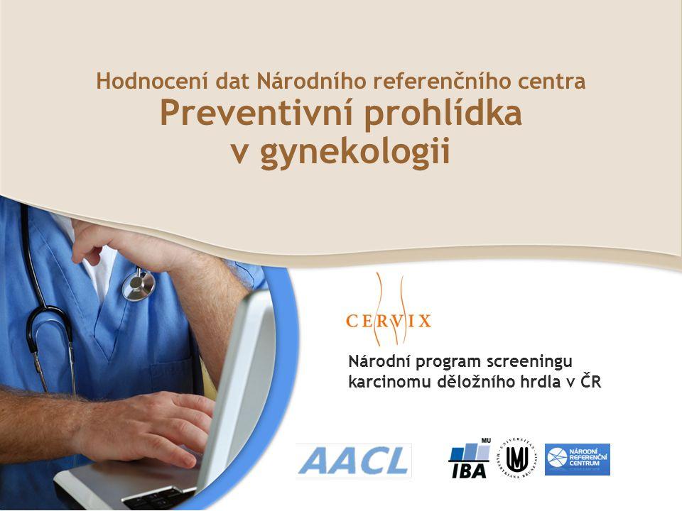Hodnocení dat Národního referenčního centra Preventivní prohlídka v gynekologii Národní program screeningu karcinomu děložního hrdla v ČR