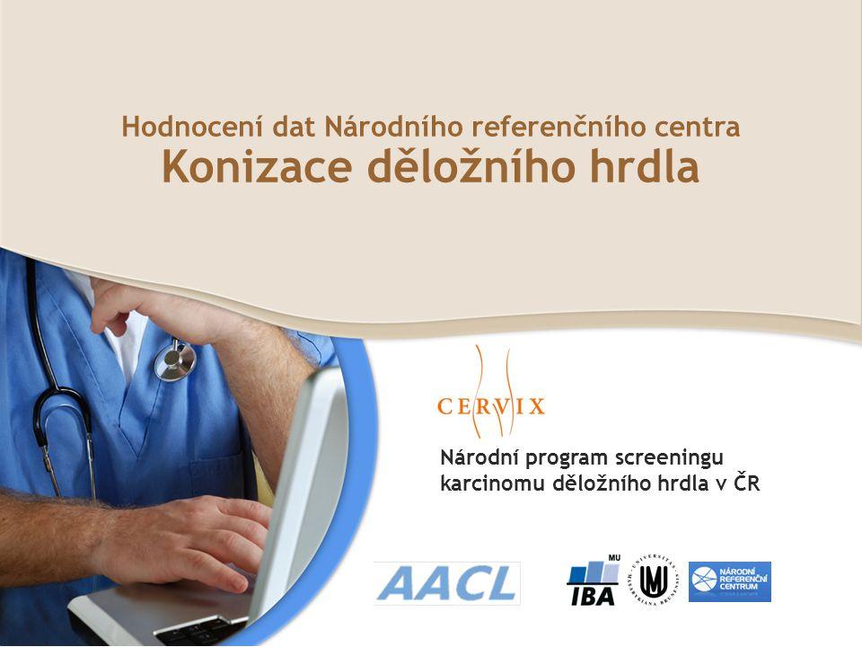 Národní program screeningu karcinomu děložního hrdla v ČR Hodnocení dat Národního referenčního centra Konizace děložního hrdla