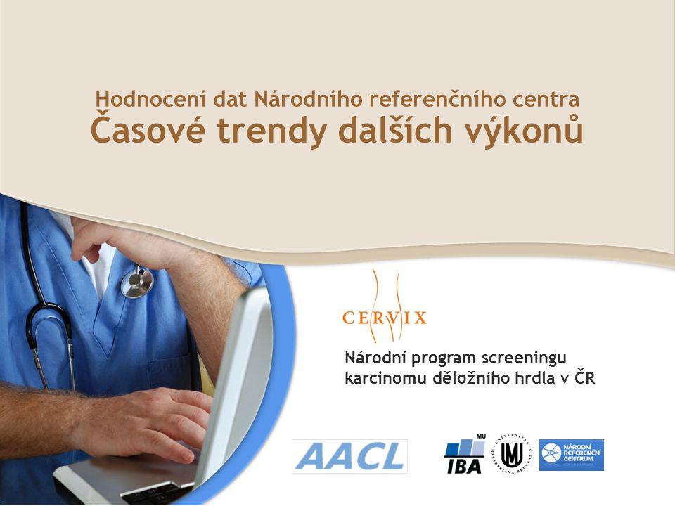 Národní program screeningu karcinomu děložního hrdla v ČR Hodnocení dat Národního referenčního centra Časové trendy dalších výkonů