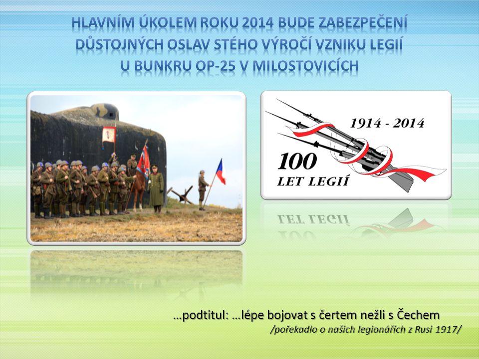 …podtitul: …lépe bojovat s čertem nežli s Čechem /pořekadlo o našich legionářích z Rusi 1917/
