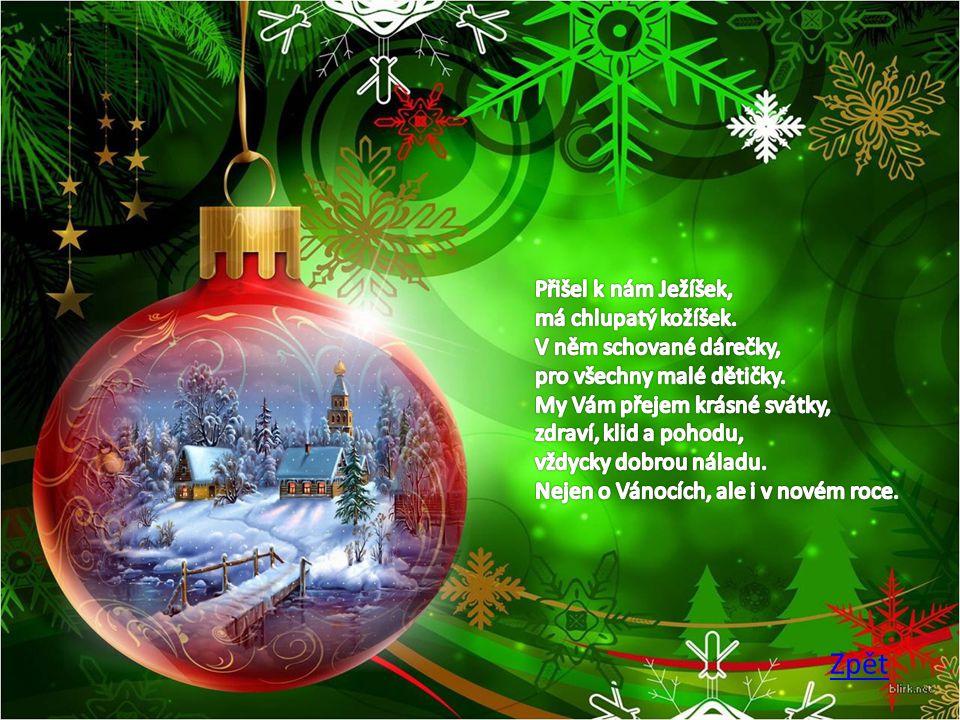 Dárky leží pod stromečkem a já si zpívám svou Venku betlém hezky svítí a já procházím tmou Já se vracím pěkně domů z vánočního nákupu Táta doma chystá stromek brácha bouchá do stolu.