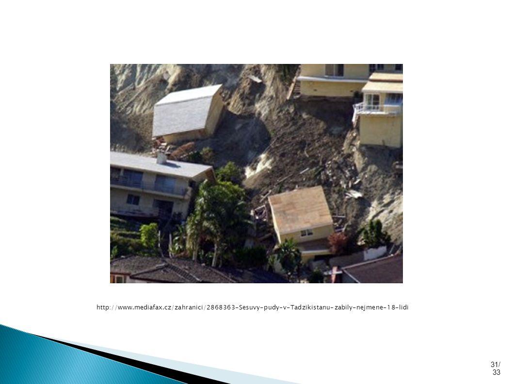 31/ 33 http://www.mediafax.cz/zahranici/2868363-Sesuvy-pudy-v-Tadzikistanu-zabily-nejmene-18-lidi