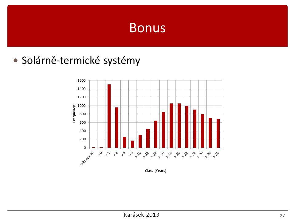 Karásek 2013 27 Bonus  Solárně-termické systémy
