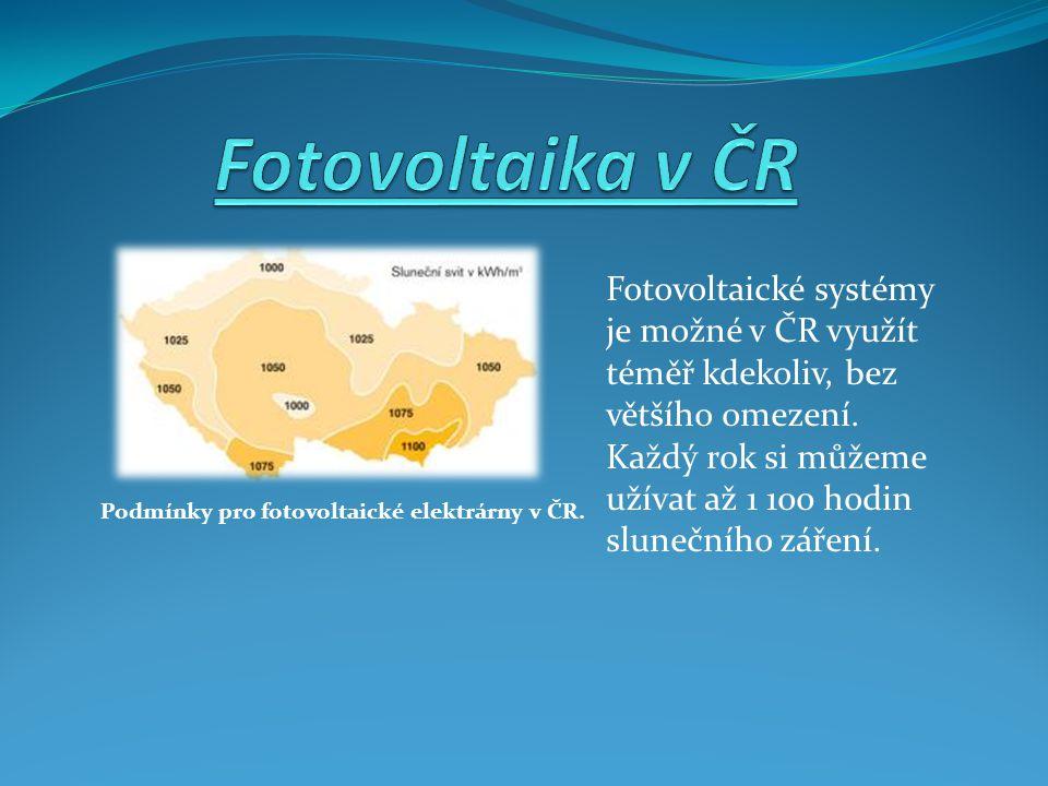 Fotovoltaické systémy je možné v ČR využít téměř kdekoliv, bez většího omezení.
