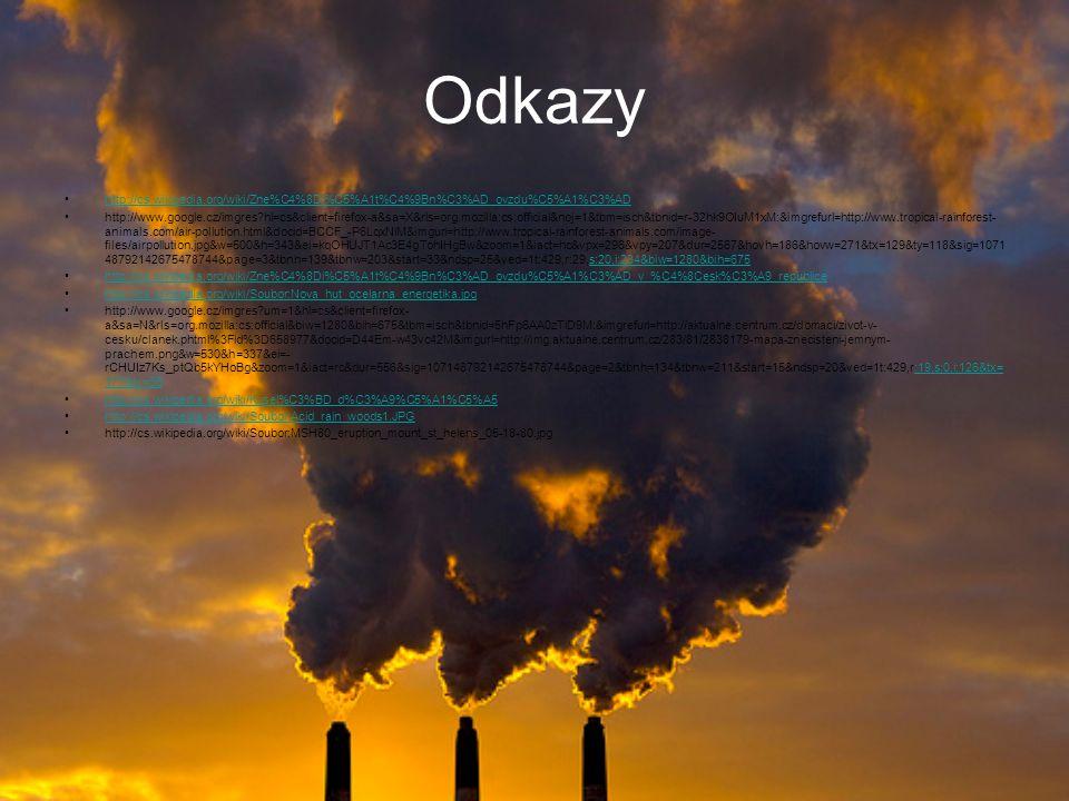 Zamyslete nad tím, jak by jste pomohli našemu ovzduší…