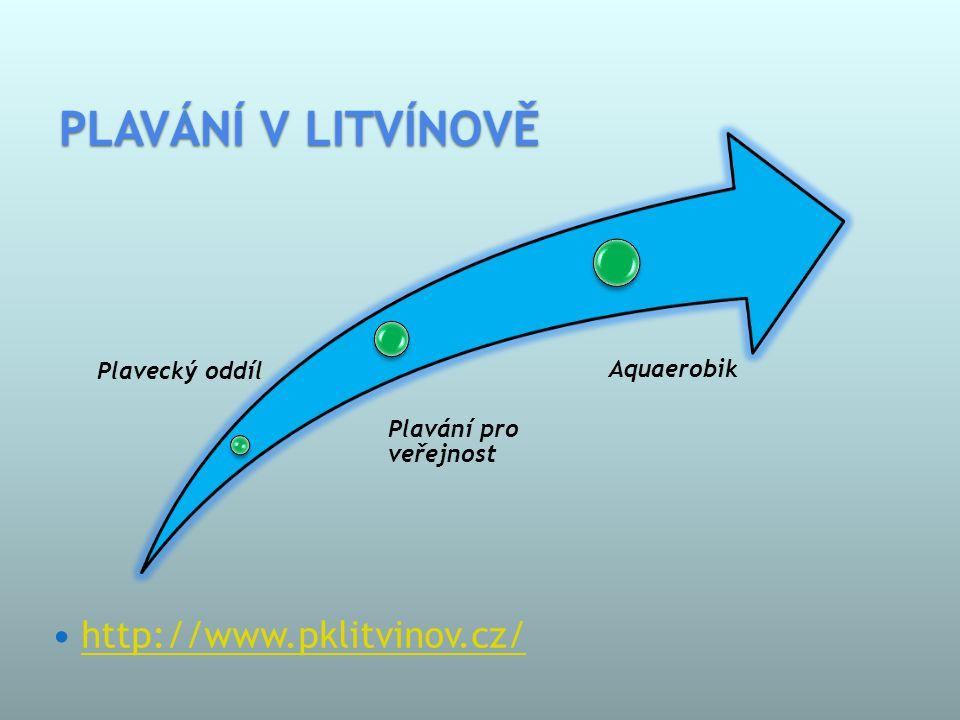 PLAVÁNÍ V LITVÍNOVĚ  http://www.pklitvinov.cz/ http://www.pklitvinov.cz/ Plavecký oddíl Plavání pro veřejnost Aquaerobik