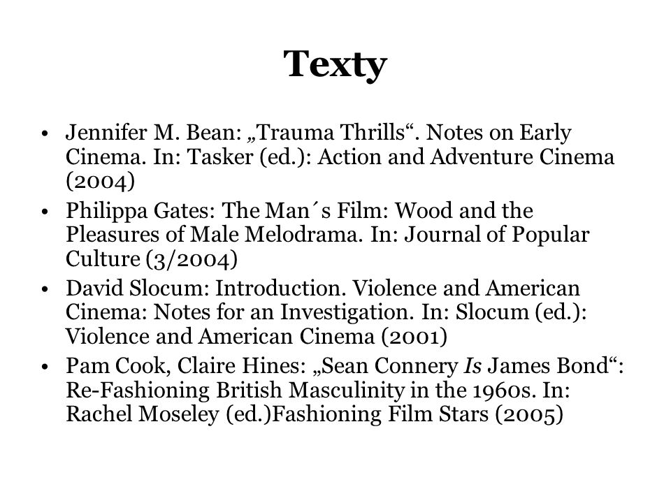 "Texty •Jennifer M. Bean: ""Trauma Thrills . Notes on Early Cinema."