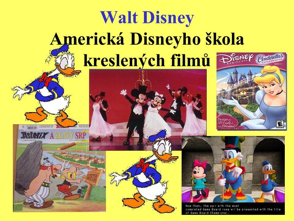 Walt Disney Americká Disneyho škola kreslených filmů