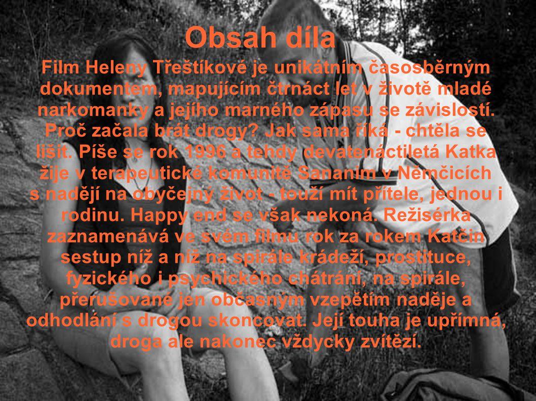 Obsah díla Film Heleny Třeštíkové je unikátním časosběrným dokumentem, mapujícím čtrnáct let v životě mladé narkomanky a jejího marného zápasu se závi