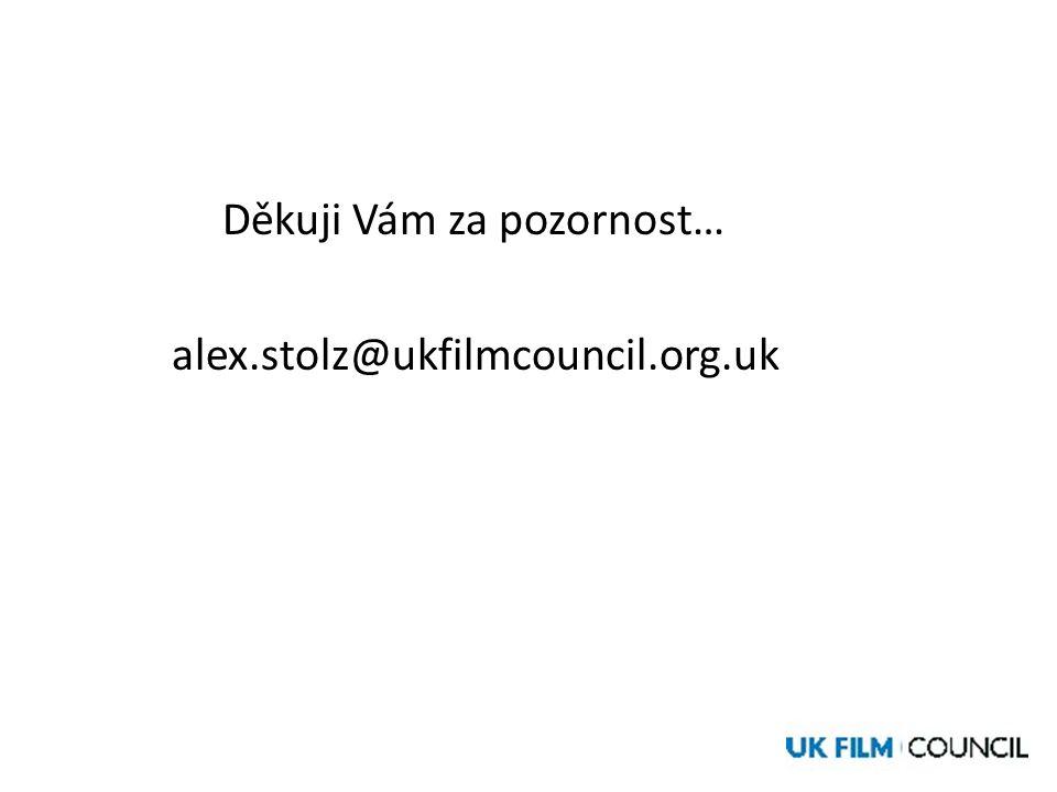 Děkuji Vám za pozornost… alex.stolz@ukfilmcouncil.org.uk