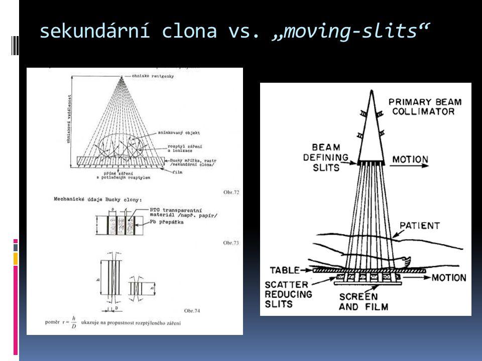 """sekundární clona vs. """"moving-slits"""""""