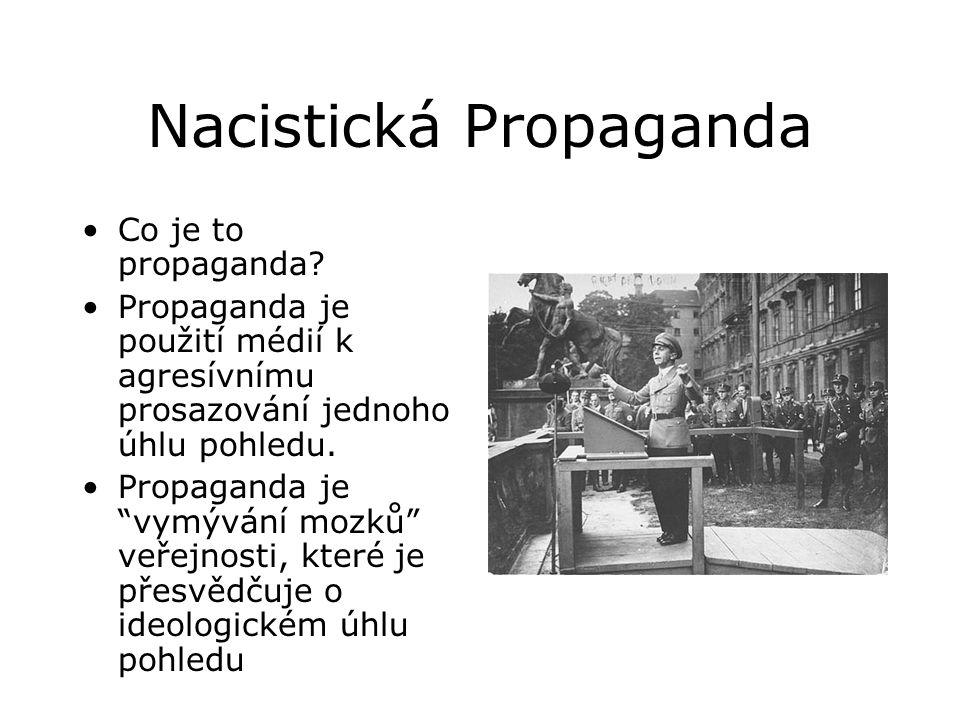 Nacistická Propaganda •Co je to propaganda.