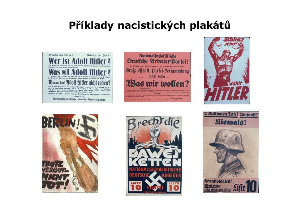 Příklady nacistických plakátů